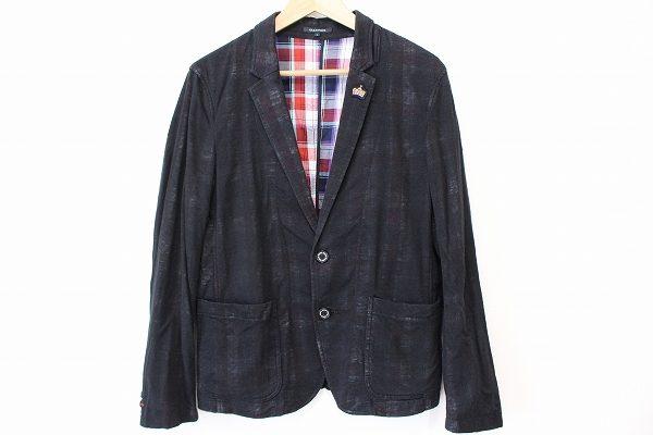 裏地のチェックが見えてオシャレ感満載なギルドプライムのメンズジャケットを出張買取いたしました