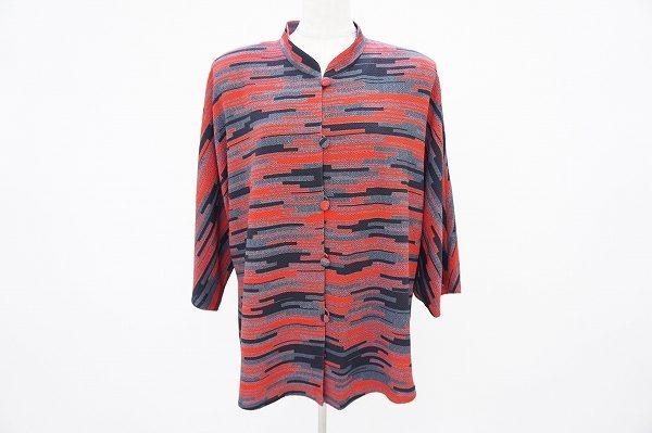 斬新なデザインでちりめんをモダンな装いに。詩仙堂のジャケットを買取いたしました