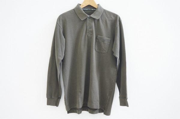 日本製のよさが堪能できるパパスの長袖ポロシャツをお譲りいただきました
