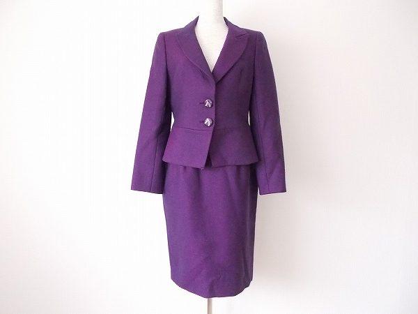 銀座マギー ボルドー スカートスーツ
