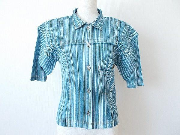 暑い日でも涼し気軽やかに着られる、プリーツプリーズのシャツを買取いたしました