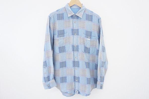 パッチワークプリントがオシャレ、パパスの長袖シャツを買取いたしました