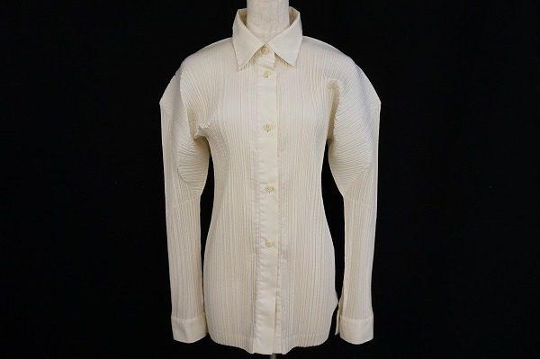 シンプルシャツを立体感ある女性らしいデザインに仕上げたイッセイミヤケのシャツを買取いたしました