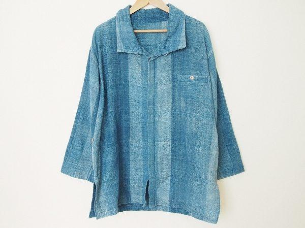 青のグラデーションが美しい、うさとのシャツを買取いたしました