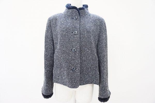 ファー付きのスタンドカラーがアンニュイ!ジュンアシダのジャケットをお譲りいただきました