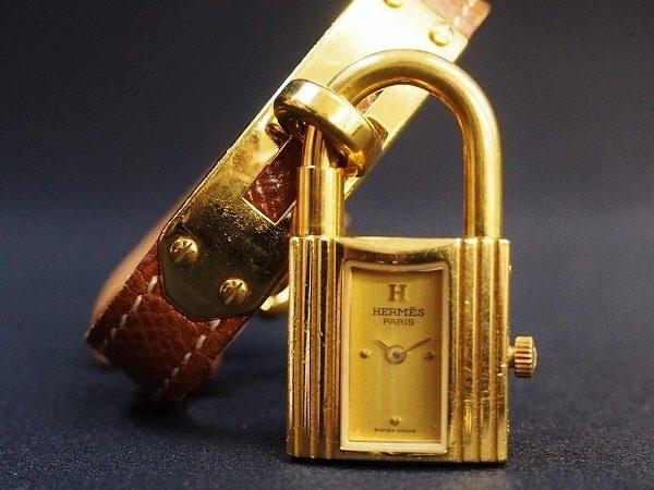 他にはない南京錠が魅力!エルメス腕時計ケリーウォッチを買取しました